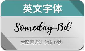 Someday-Bold(英文字体)