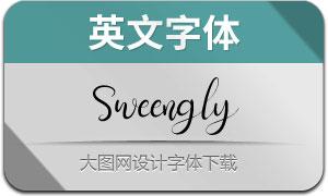 Sweengly(英文字体)
