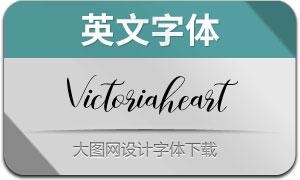 Victoriaheart(英文字体)