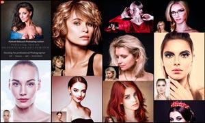 人物皮肤美化和柔肤处理PS动作