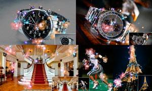 数码照片添加梦幻星光装饰效果PS动作