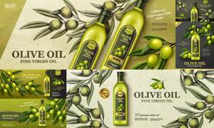 特級壓榨橄欖油產品廣告矢量源文件