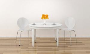 白色的桌椅家具等陈设摄影高清图片