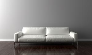 房间里的白色沙发家具摄影高清图片