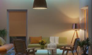 房间家具灯光环境照明摄影高清图片