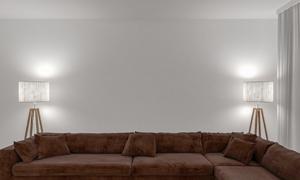 大空间沙发布置与灯光照明高清图片