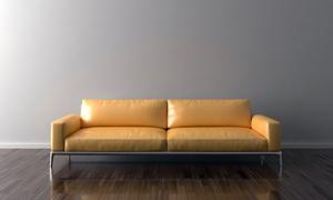 房间摆放着的真皮沙发摄影高清图片