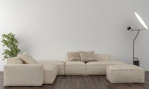 灯具绿植与组合式沙发摄影高清图片