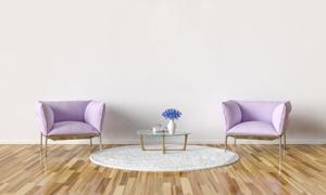 茶几与单人座沙发陈设摄影高清图片