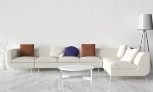 茶几与组合式沙发渲染效果高清图片