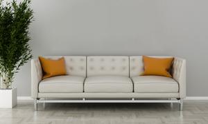 吊灯绿植与沙发枕头等渲染效果图片