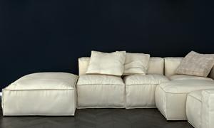 吊灯下坐感舒适的沙发渲染效果图片