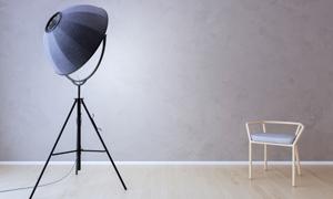 三脚支架落地灯与凳子渲染高清图片