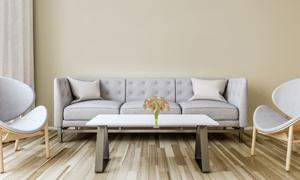 椅子茶幾與沙發等渲染效果高清圖片