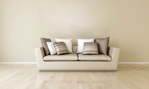 擺滿了枕頭的沙發家具渲染效果圖片