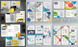 畫冊頁面版式模板矢量素材集合V200