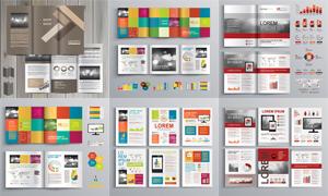 畫冊頁面版式模板矢量素材集合V201
