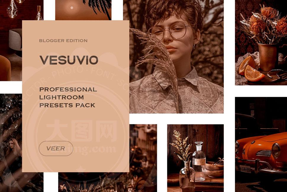 Vesuvio系列人像复古艺术效果LR预设