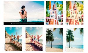 50款夏季海边照片小清新效果LR预设