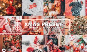 圣诞节主题复古效果LR预设