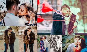 Valentines系列復古懷舊藝術效果LR預設