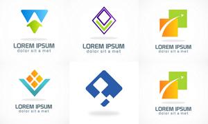 箭头等几何图形元素标志创意矢量图