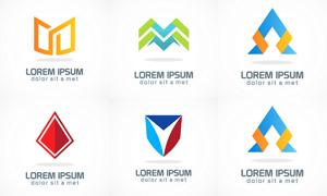 多彩几何抽象图形元素标志矢量素材