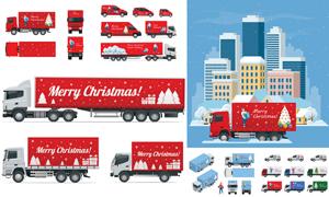 车身圣诞气氛营造广告设计矢量素材