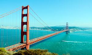 美国金门大桥建筑高清摄影图片