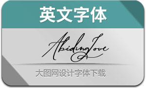 AbidingLove系列七款英文字体