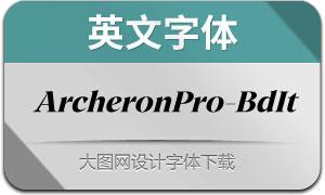 ArcheronPro-BoldItalic(英文字体)