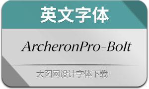 ArcheronPro-BookItalic(英文字体)