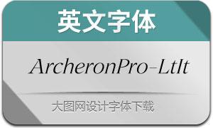 ArcheronPro-LightItalic(英文字体)