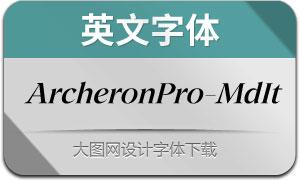 ArcheronPro-MediumIt(英文字体)