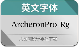 ArcheronPro-Regular(英文字体)