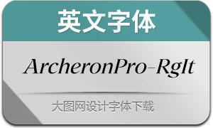 ArcheronPro-RegularIt(英文字体)