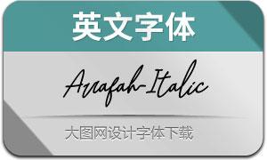 Arrafah-Italic(英文字体)