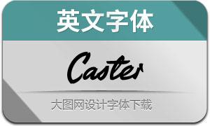 Caster(英文字体)