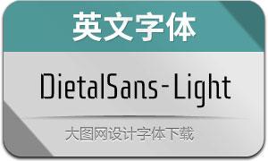 DietalSans-Light(英文字体)