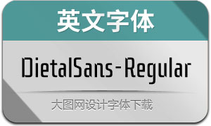 DietalSans-Regular(英文字体)