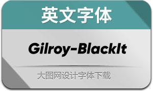 Gilroy-BlackItalic(英文字体)