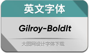 Gilroy-BoldItalic(英文字体)