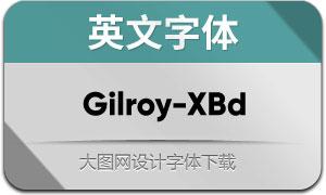 Gilroy-ExtraBold(英文字体)
