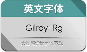 Gilroy-Regular(英文字体)