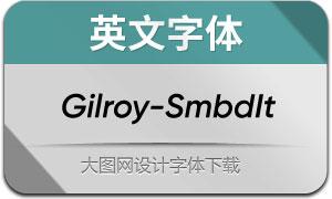 Gilroy-SemiBoldItalic(英文字体)
