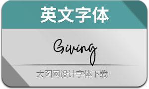 Giving(英文字体)