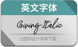 Giving-Italic(英文字体)