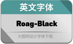 Roag-Black(英文字体)
