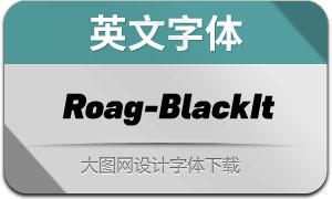 Roag-BlackItalic(英文字体)