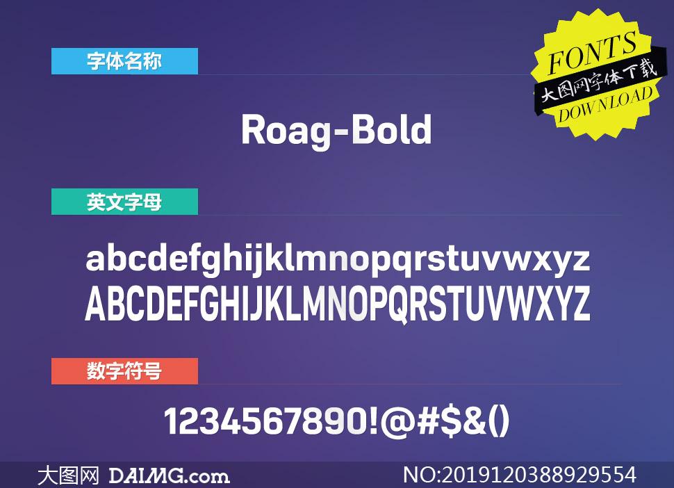 Roag-Bold(英文字体)